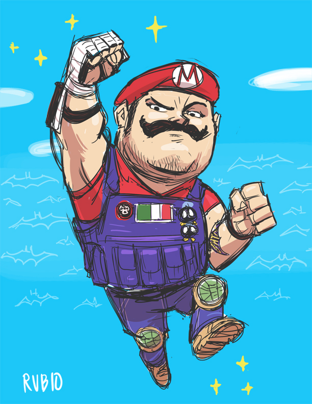Mario Cosplay drawing by BobbyRubio