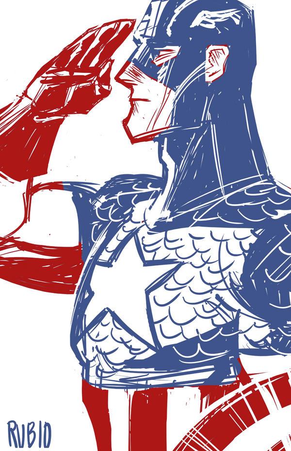 Captain America by BobbyRubio