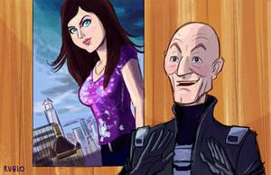 Professor X and Annabeth Chase by BobbyRubio