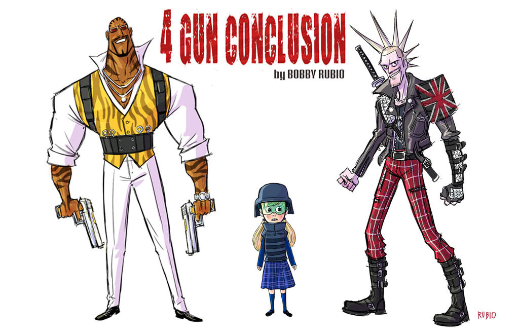 4 Gun Conclusion main characters by BobbyRubio