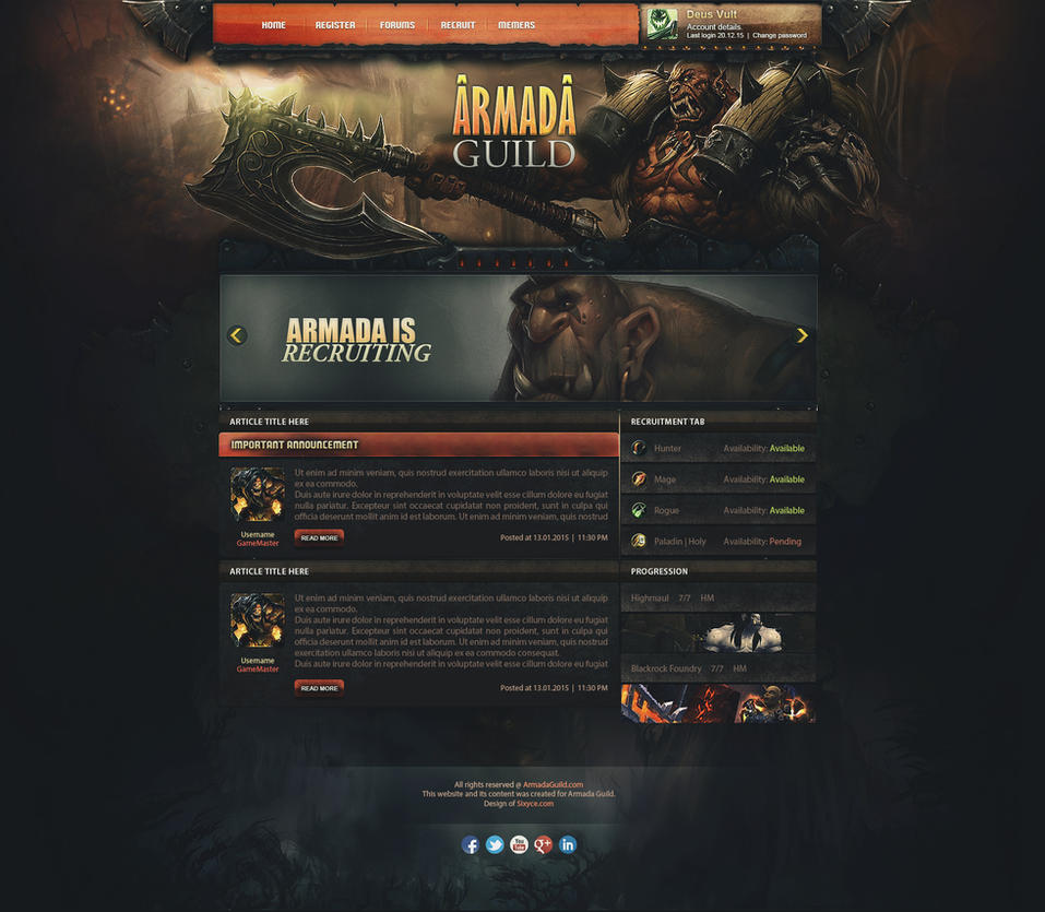 warlords of draenor guild template sold by insdev on deviantart