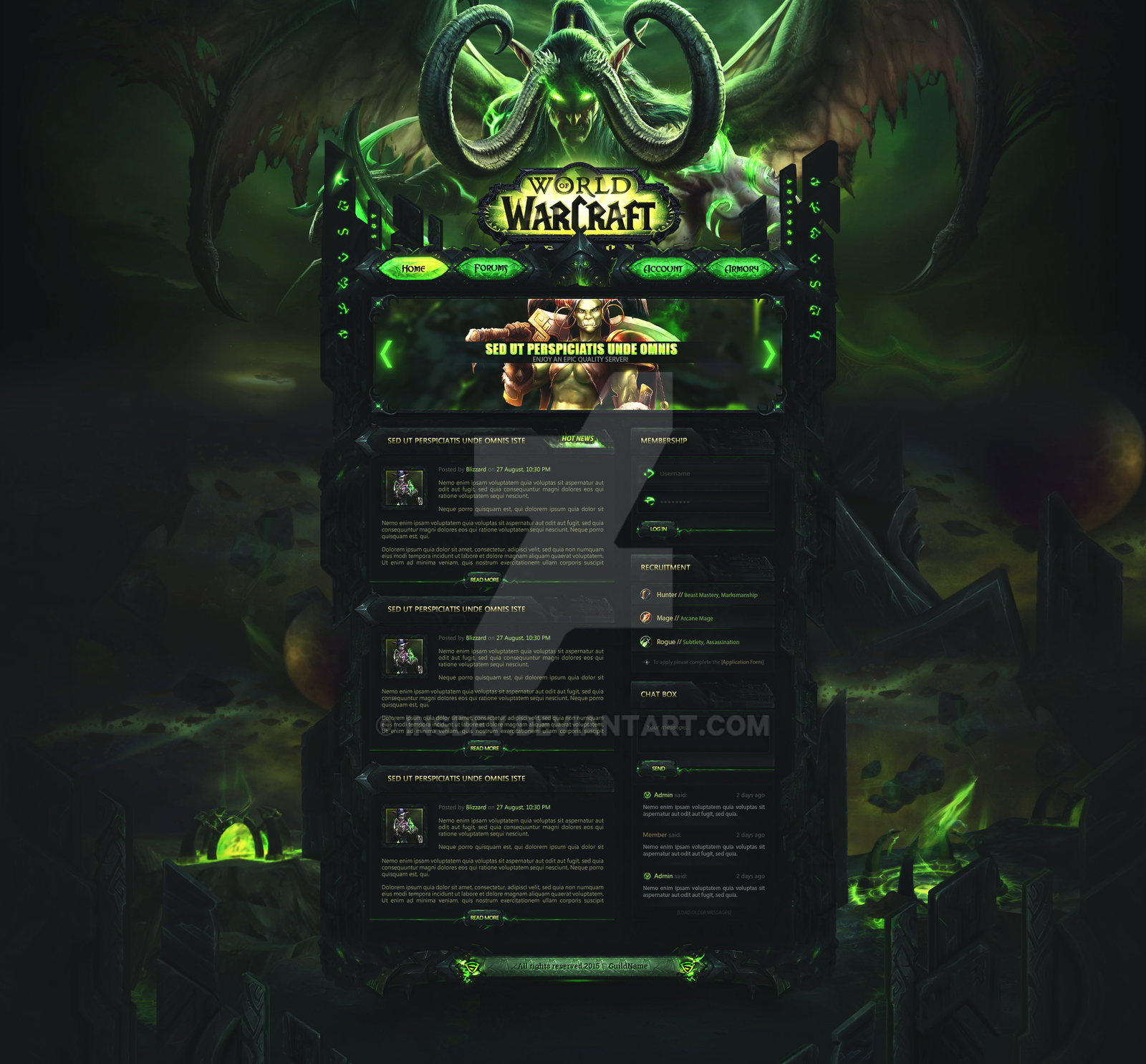 world of warcraft legion guild template sell by insdev on
