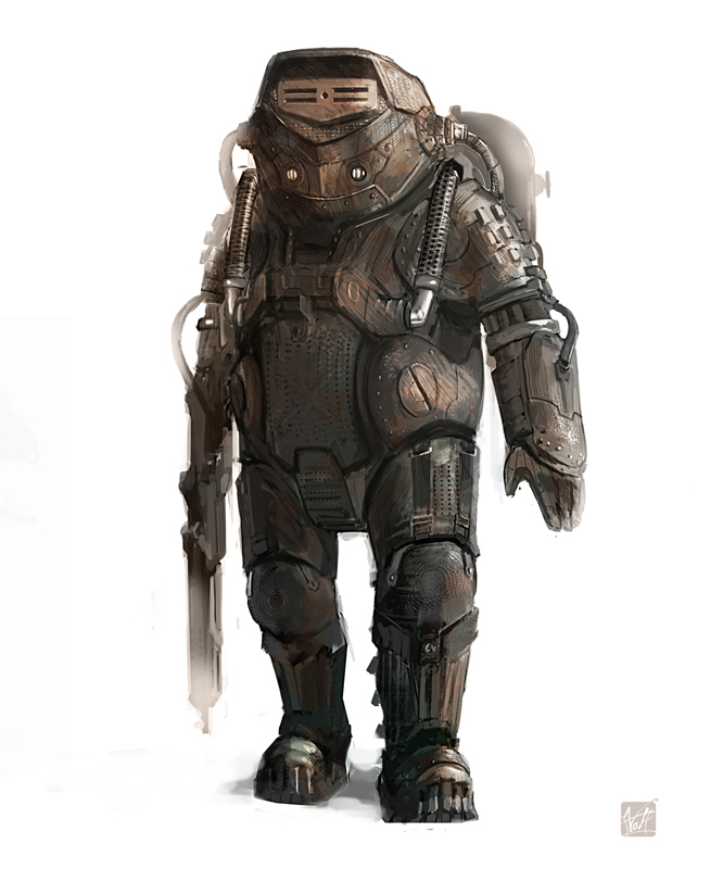 heavy trooper concept by BenedictWallace