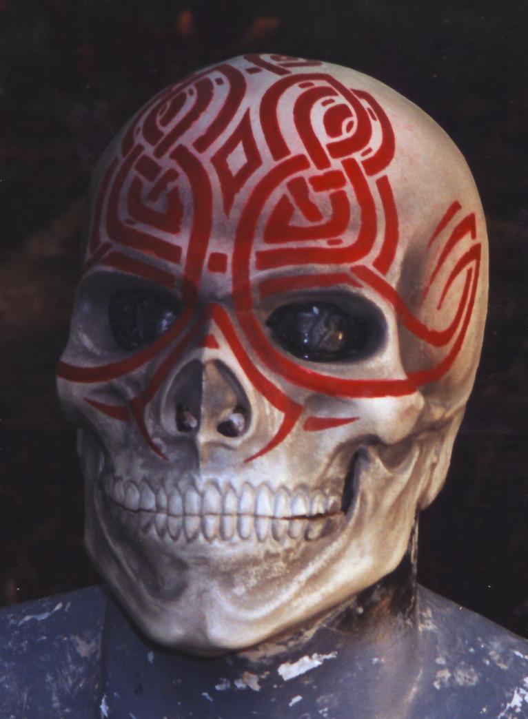 Tattoo Skull mask by ~DragonArmoury on deviantART