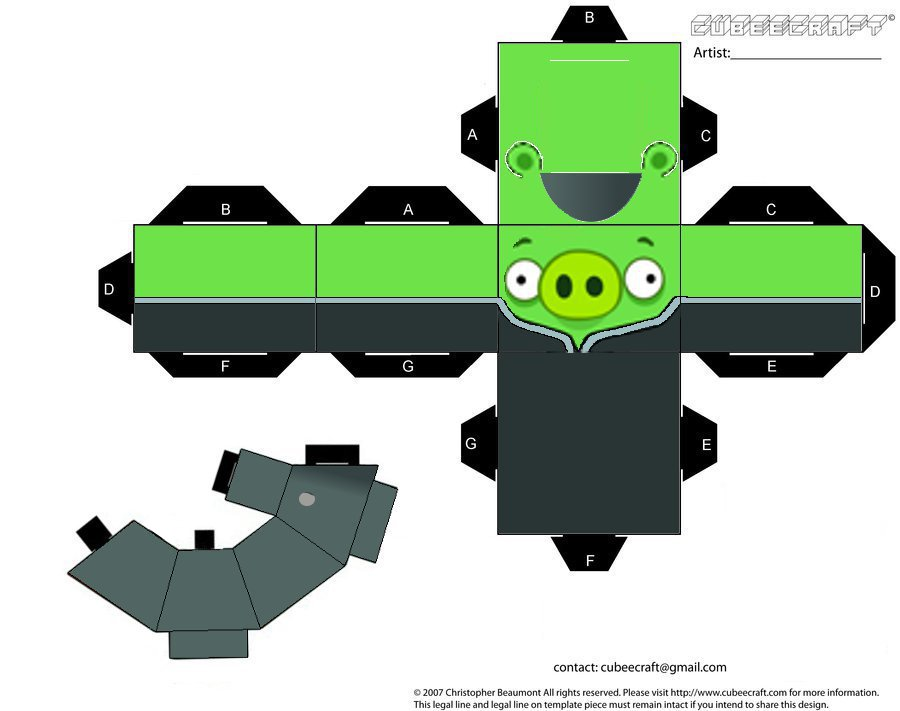 Imperial officer pig angry bird by cyberlon by cyberlon on for Angry bird pig template
