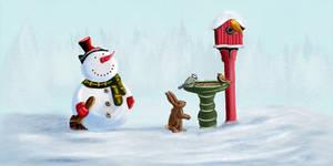 Snowmanns Winterfeeding