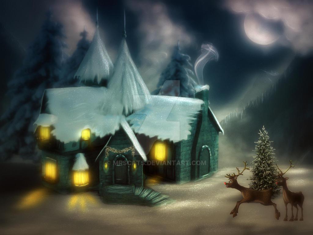 Santas Home by mrscats