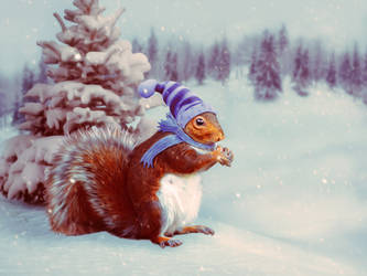Little Squirrel by mrscats