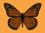 Doodled Monarch