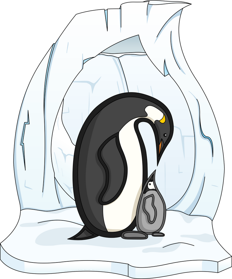 Davin and Annie the Penguins by vhartley