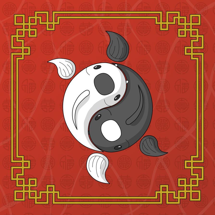 Yin and Yang the Koi by vhartley