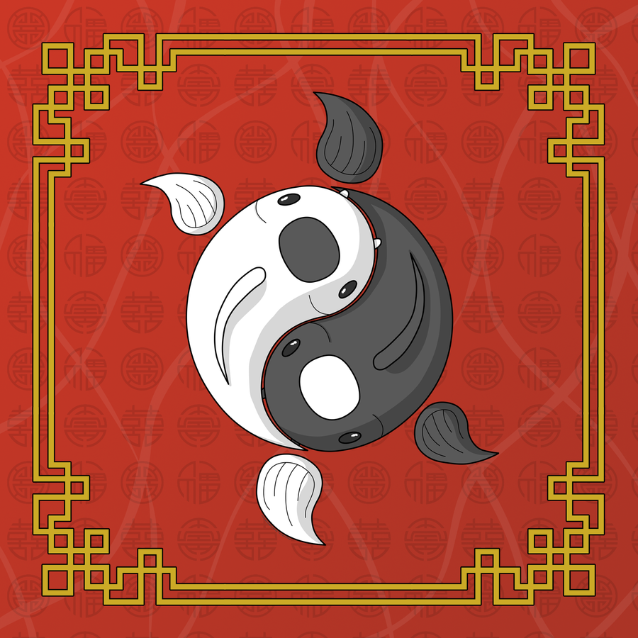 Yin and Yang the Koi by vhartley
