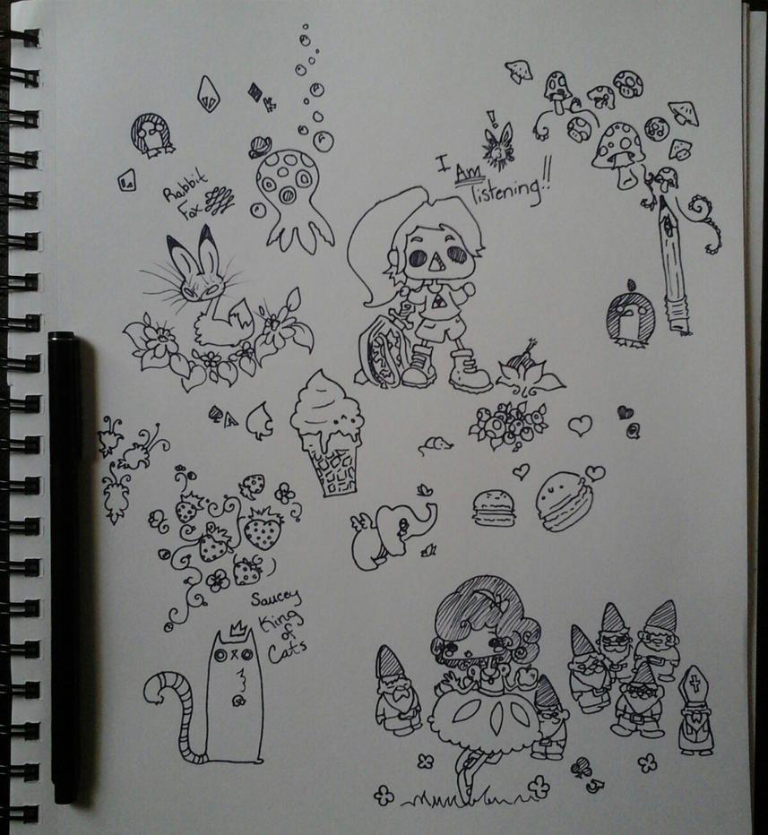 Inky doodles by Jakkithebunny