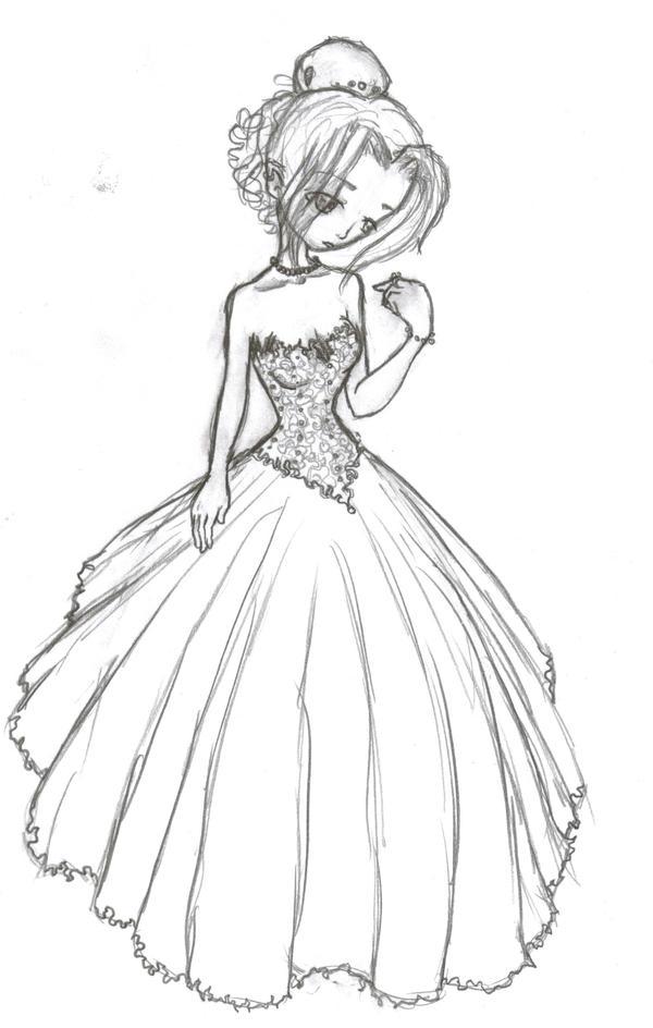 Wedding dress by jakkithebunny