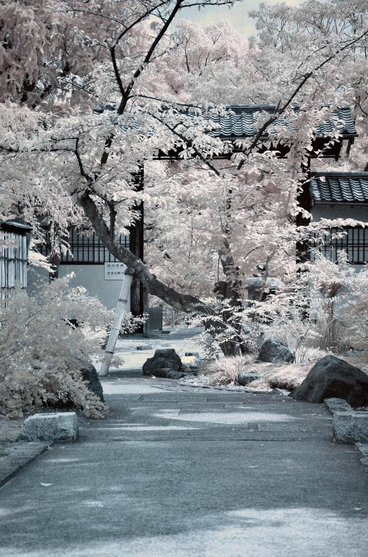 Kyoto - Shosei-en Garden entrance to park by Wunderling