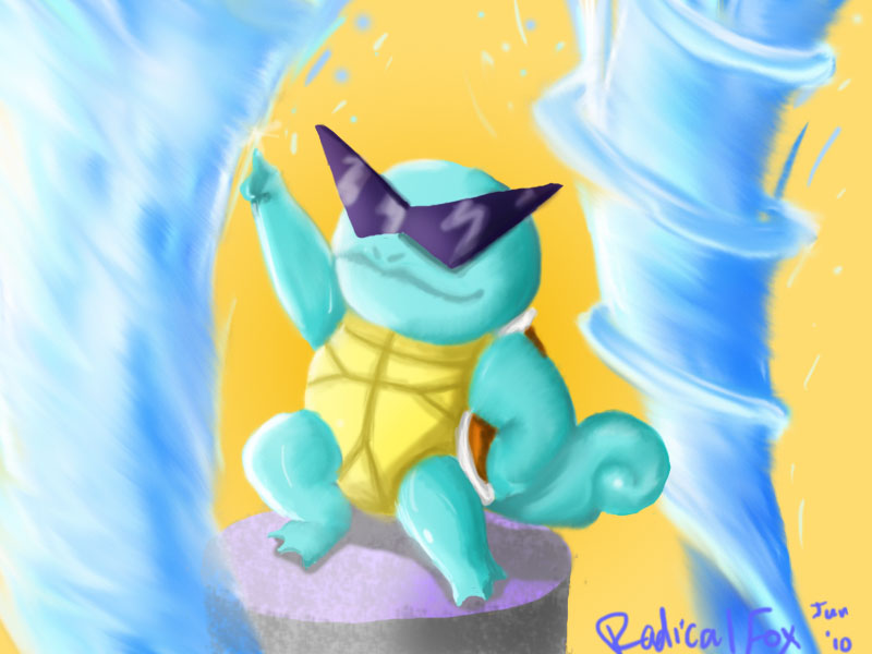 Squirtle Squad Kamina Style by RadicalFox on DeviantArt