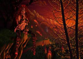 ...Fire Nymph... by DarkAkelarre