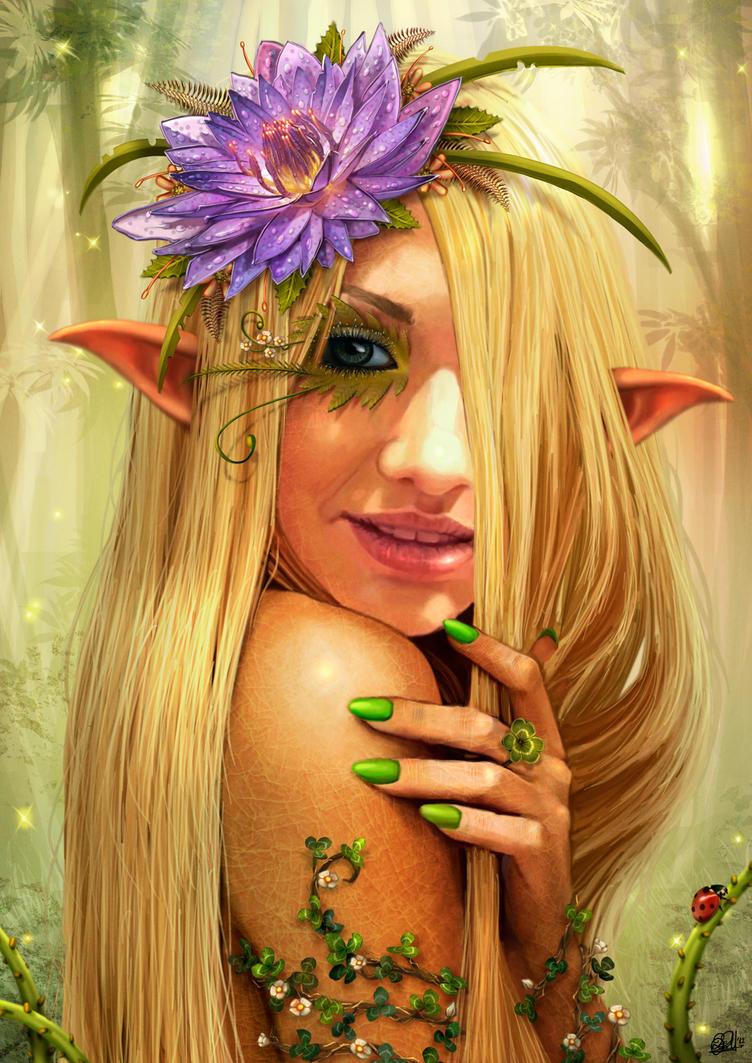 Spring Elf by DarkAkelarre
