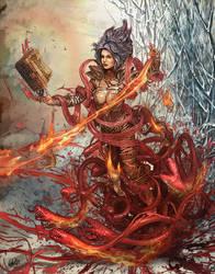 Wizard - Blood and Fire Hydra - DIablo III by DarkAkelarre