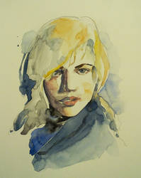 A quick watercolor portrait