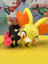 With Fennekin by itsukih
