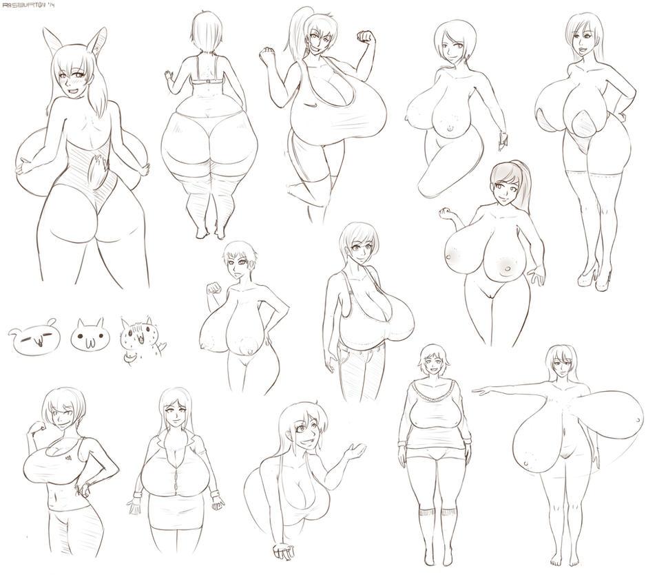 Random sketches - November 2014 by RasBurton
