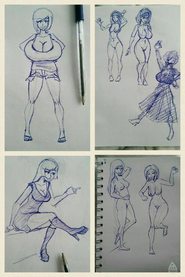 Ball pen sketches by RasBurton
