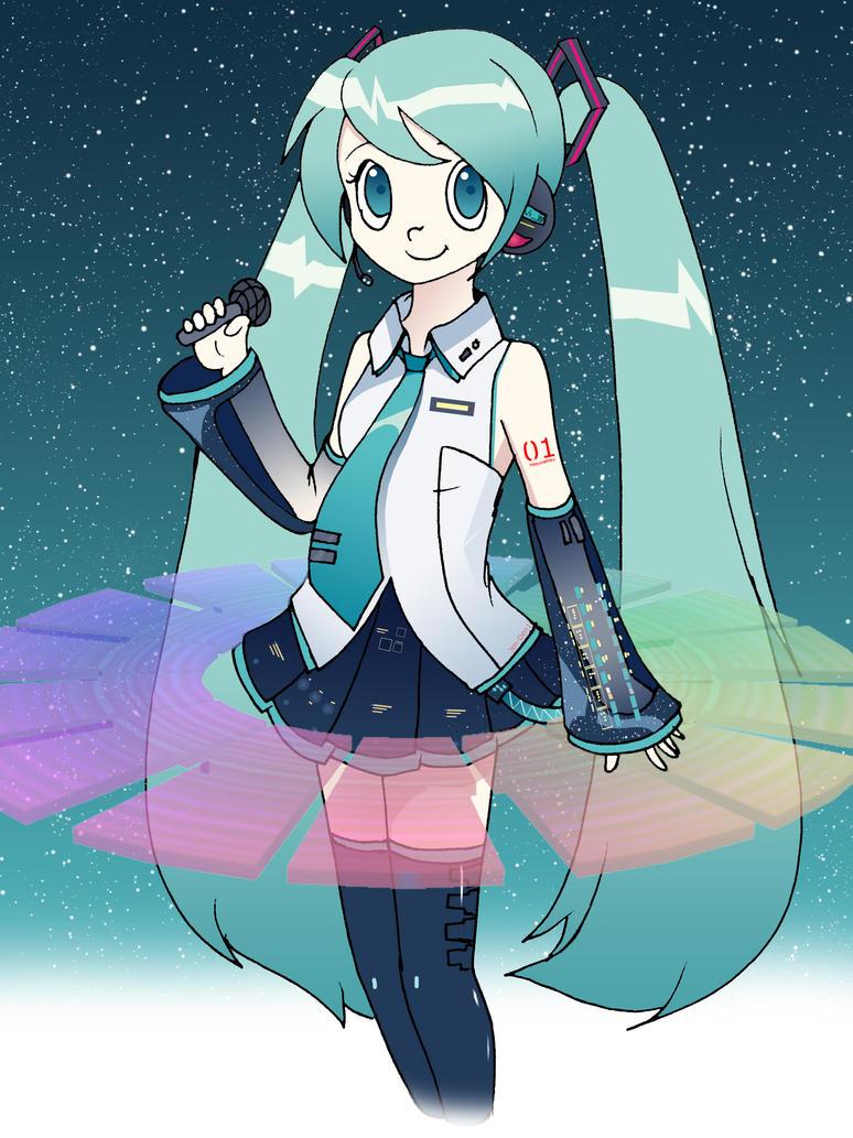 Hatsune Miku V3 by jen-den1
