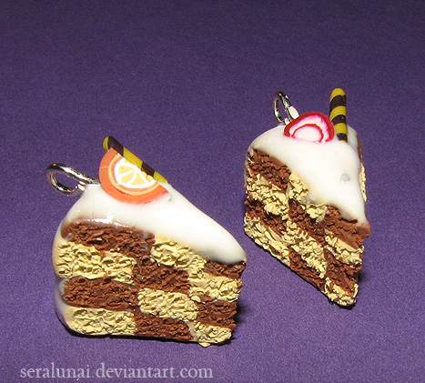 Art I Cake Halloween Charms : Checkerboard cake charms by Seralunai on deviantART