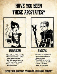 Wanted Apostates by jancola