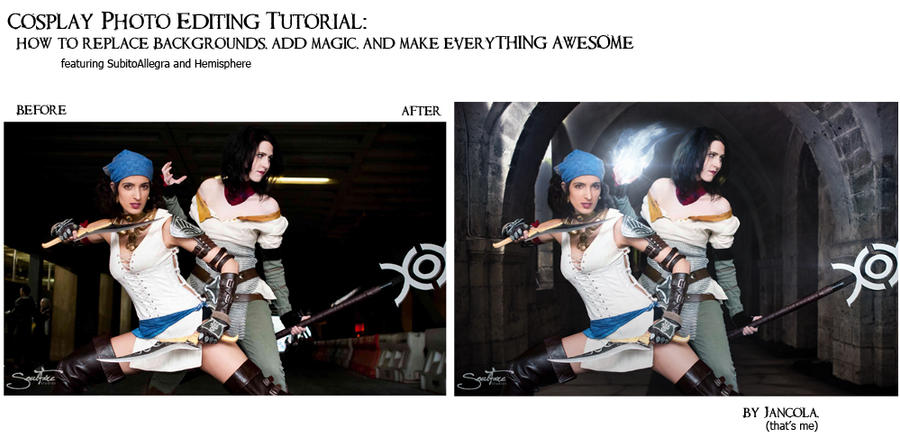Cosplay Photoshop Tutorial, intro by jancola
