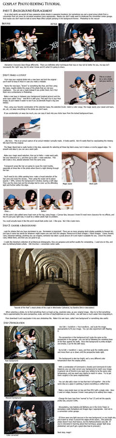 Cosplay PS Tutorial, p1: Background Replacement