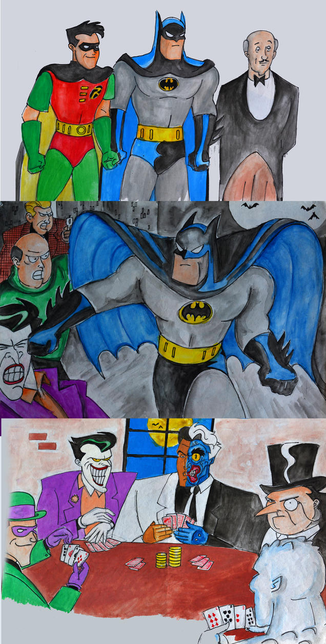 Batman Animated Series Artwork Set 3 by isuru077
