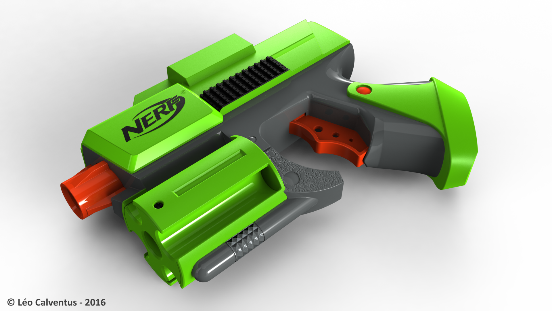 NERF Dart Tag Green Handgun by Jetstorm-477