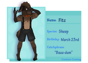 Creature Crossing-- Fitz by TroubleShark