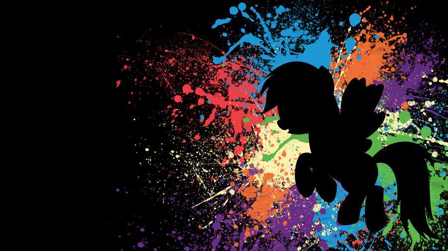 rainbow dash paint splatter wallpapertoxic26 on deviantart