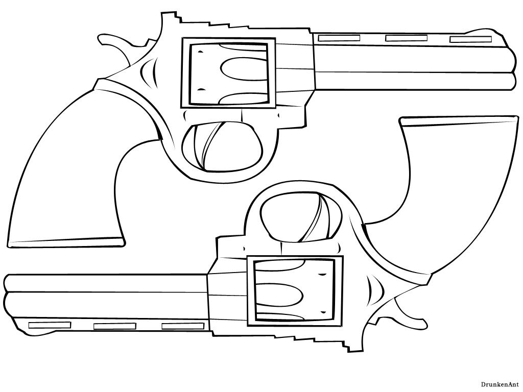 Line Art Gun : Revolvers line art by drunkenant on deviantart