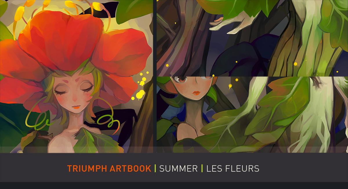 Triumph Artbook Preview - Les Fleurs by draa