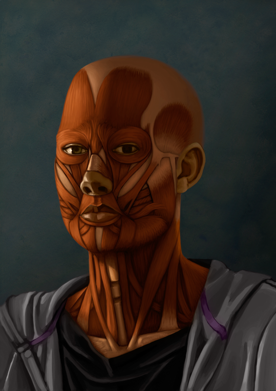 Skinless self portrait by dierat