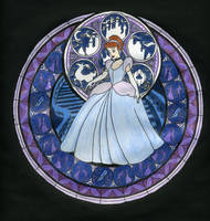 KH Stained Glass - Cinderella by BastRulez