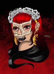 Skull Queen by tbonez-art