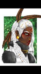 Tribal Character Concept Art by tbonez-art