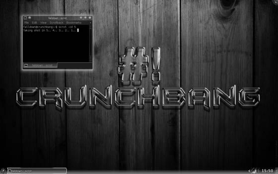 Black and White glass Crunchbang + KDE4 by falldown-aka-chris