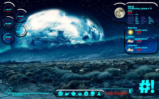Sci-fi conky, lua and CrunchBang by falldown-aka-chris