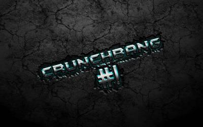 Cyan Chrome Crunchbang Wallpaper by falldown-aka-chris