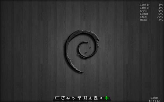 Debian Sid with AWN by falldown-aka-chris
