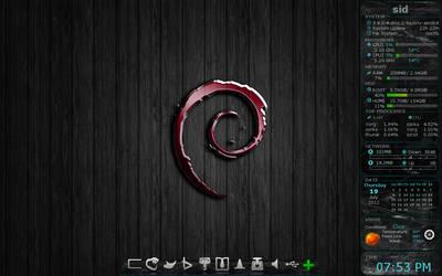 Red glass debian screenshot by falldown-aka-chris