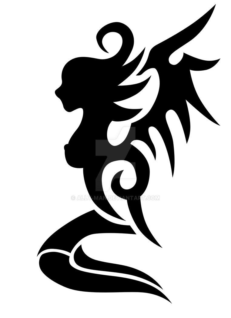 0346c626b Tribal Angel 001 tattoo design by Ally-man on DeviantArt