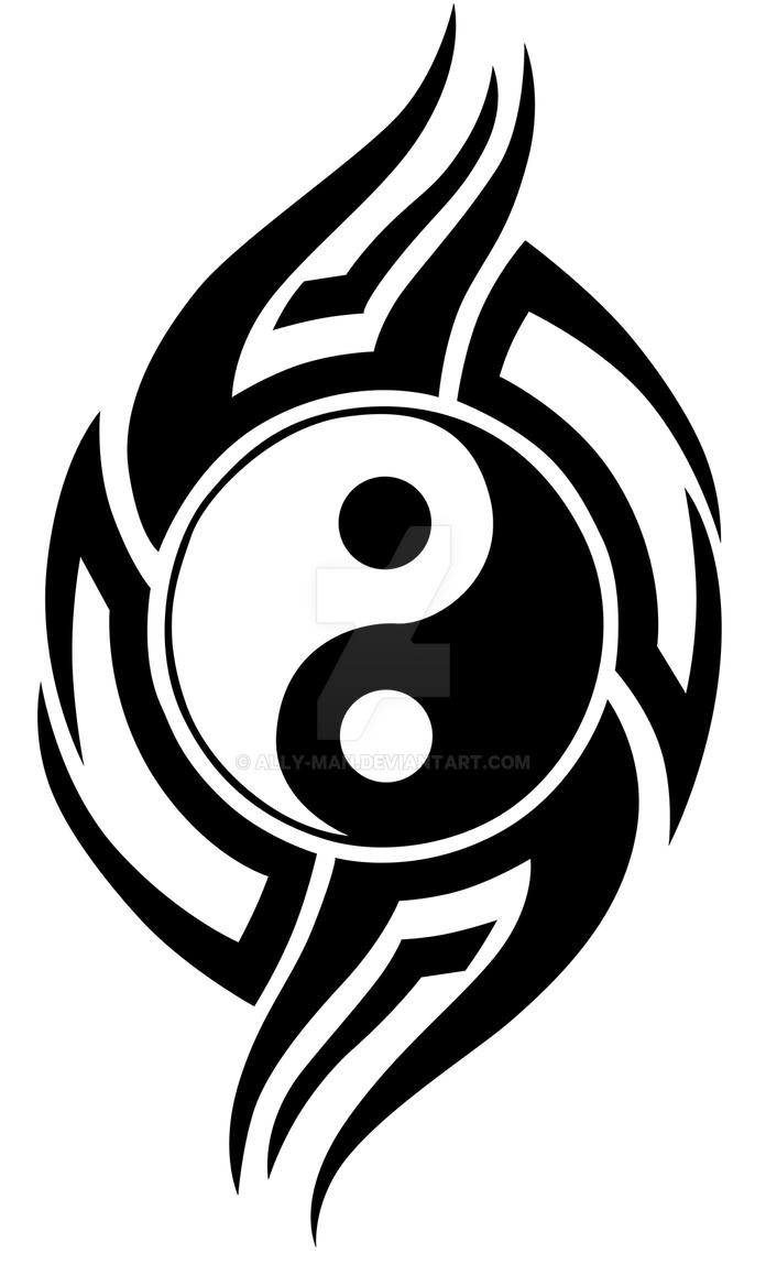 sign of a ying yang tribal pictures to pin on