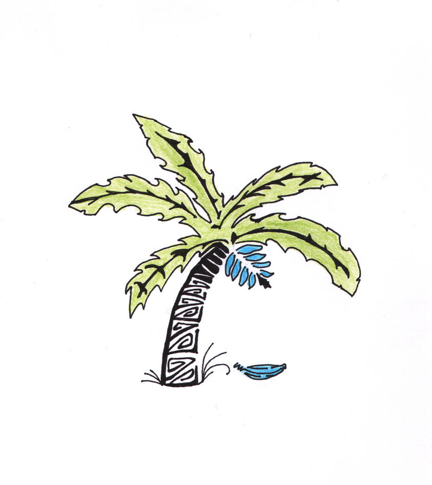 Blue banana tree by Samrow